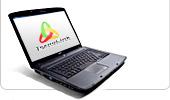 Ноутбук с логотипом Технолинк