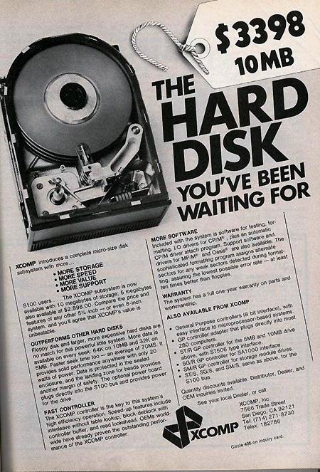 Ретро HDD Диск на 10MB за 3398$